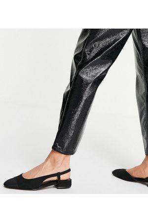 ASOS Lively - Ballerine basse a pianta larga nere con cinturino sul retro