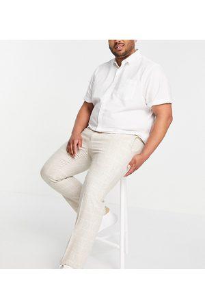 Twisted Tailor Plus - Pantaloni da abito color pietra a quadri-Neutro