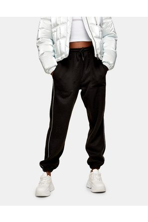 Topshop Donna Joggers - Joggers oversize in pile neri