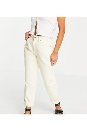 ASOS Donna Boyfriend jeans - ASOS DESIGN Petite - Mom jeans a vita alta extra larghi limone