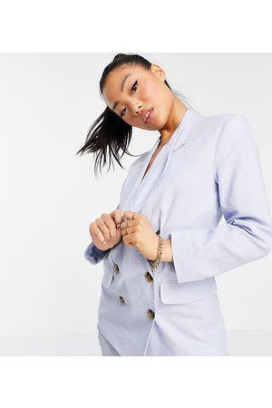 ASOS Donna Vestiti estivi - ASOS DESIGN Petite - Blazer doppiopetto da abito in lino
