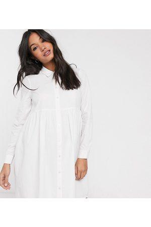 ASOS Donna Vestiti grembiule - ASOS DESIGN Maternity - Vestito camicia grembiule corto in cotone