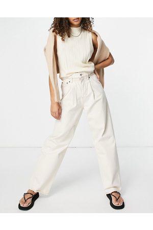 ASOS Donna Jeans a vita alta - Jeans leggeri a vita alta bianchi