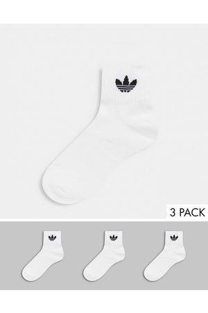 adidas Donna Collant - Confezione da 3 calzini con trifoglio bianchi