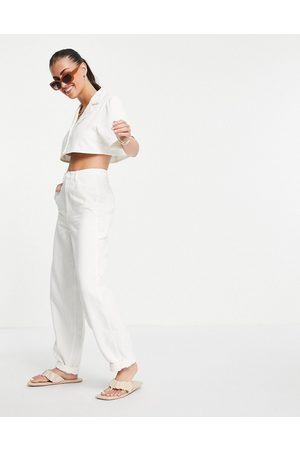 ASOS Joggers in mussola bianchi in coordinato