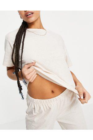 ASOS Mix & Match - T-shirt del pigiama in jersey crema