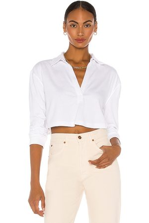 L'Academie LS Cropped Polo in - . Size L (also in XXS, XS, S, M, XL).