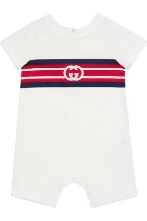 Gucci Neonati Pagliaccetti - Tutina in cotone con logo GG