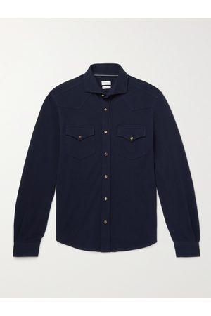 Brunello Cucinelli Cotton-Piqué Western Shirt