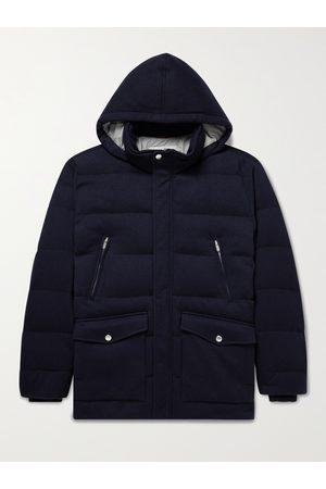 Brunello Cucinelli Oversized Quilted Cashmere Down Hooded Jacket