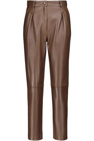 Etro Pantaloni in pelle a vita alta