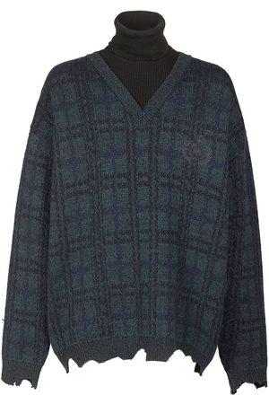 Balenciaga Uomo T-shirt - Maglia In Lana Tartan