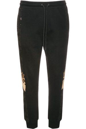 Dolce & Gabbana Uomo Felpe - Pantaloni In Felpa Di Cotone Con Logo