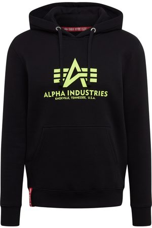 Alpha Industries Uomo Felpe - Felpa 'Basic Hoody Neon Print