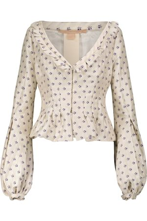 BROCK COLLECTION Donna Giacche - Giacca in jacquard floreale