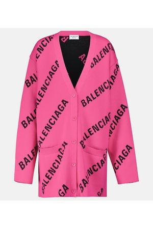 Balenciaga Cardigan in jacquard di misto cotone