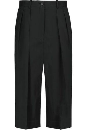 The Row Donna Pantaloncini - Pantaloni culottes Lisa in cotone e cashmere
