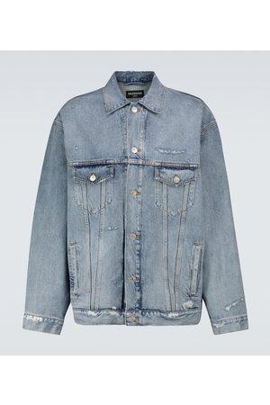 Balenciaga Uomo Giacche di jeans - Giacca di jeans con logo