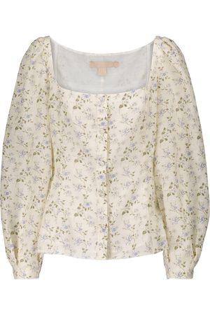 BROCK COLLECTION Blusa in misto lino e cotone con stampa