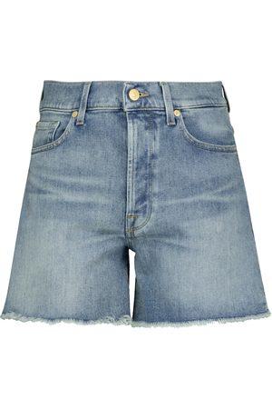 7 for all Mankind Donna Pantaloncini - Shorts di jeans Billie a vita alta