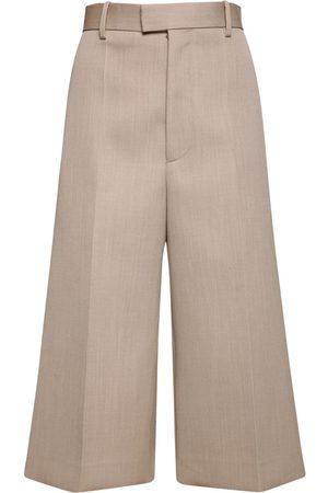 Bottega Veneta Pantaloni Cropped In Lana