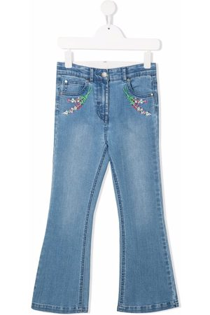 Stella McCartney Bambina Jeans - Jeans svasati con ricamo