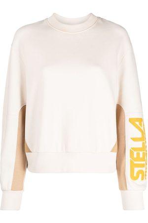 Stella McCartney Donna Felpe - Felpa con design color-block - Toni neutri