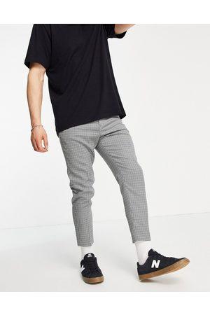 ASOS Pantaloni da abito corti affusolati a quadri