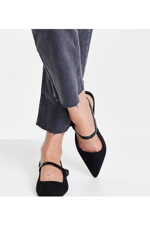 ASOS Wide Fit - Lewin - Ballerine Mary Jane nere a punta