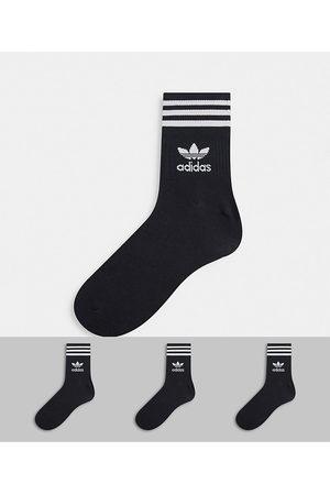 adidas Adicolor Trefoil - Confezione da 3 paia di calzini alla caviglia neri