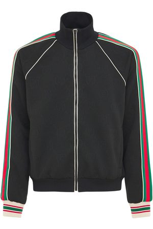 Gucci Giacca In Jersey Gg Jacquard Con Zip