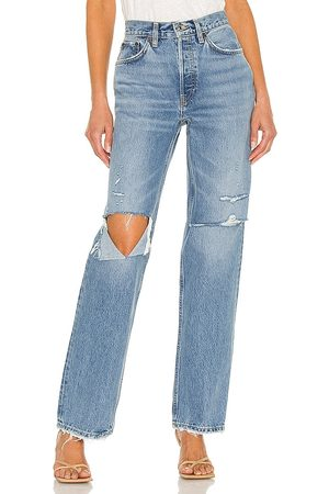 RE/DONE Donna Jeans - Originals 90s Comfy Jean in - Blue. Size 23 (also in 24, 25, 26, 27, 28, 29, 30).