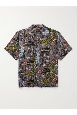 KAPITAL Uomo Casual - Convertible-Collar Printed Voile Shirt