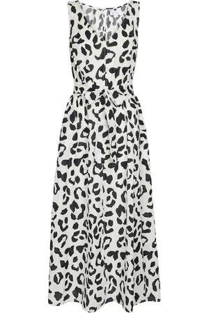 Velvet Maxi abito Giselle in cotone con stampa leopardata