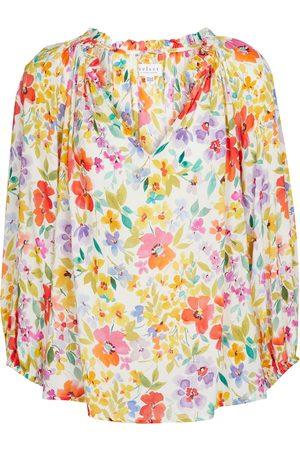 Velvet Blusa Tyra con stampa floreale