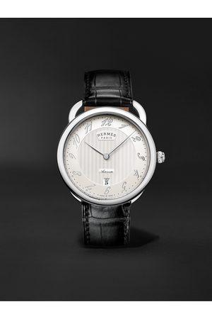 Hermès Uomo Orologi - Arceau Automatic 40mm Stainless Steel and Alligator Watch, Ref. No. 055574WW00