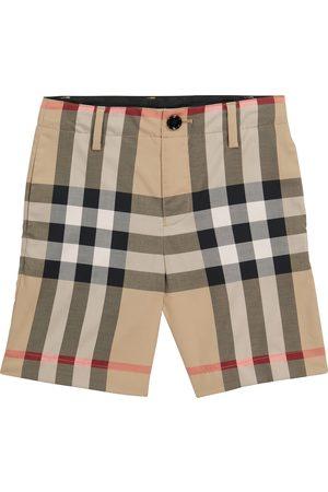 Burberry Bambino Pantaloncini - Shorts in cotone stretch a quadri