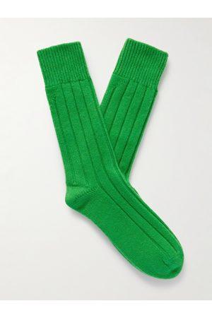 Bottega Veneta Uomo Calze - Ribbed Cashmere Socks