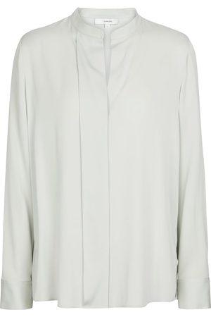 Vince Donna Bluse - Blusa in raso di seta