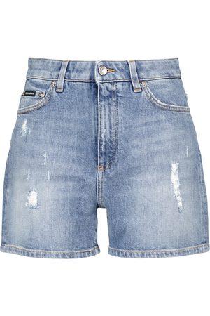 Dolce & Gabbana Shorts di jeans a vita media