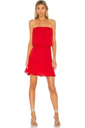krisa Strapless Mini Dress in - Red. Size L (also in XS, S, M).