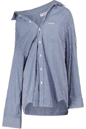 Balenciaga Donna Camicie - Camicia in cotone a righe