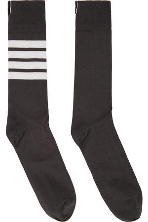 Thom Browne Grey 4-Bar Socks