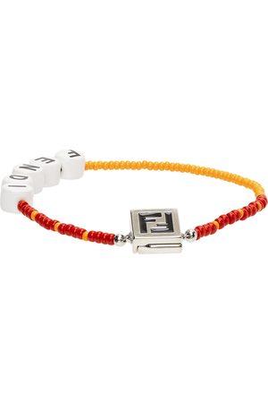 Fendi Orange & Red Beaded 'Forever ' Bracelet