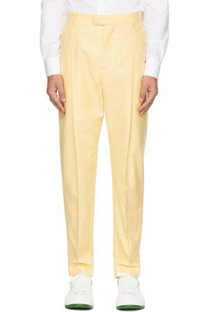 Alexander McQueen Uomo Cappelli - Yellow One Pleat Panama Trousers