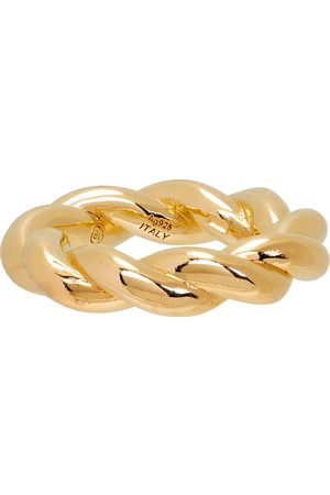 Bottega Veneta Gold Twist Ring