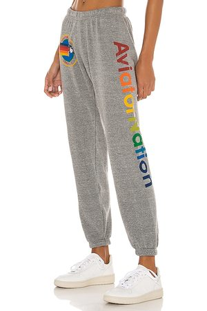 AVIATOR NATION Sweatpant in - Grey. Size L (also in XS, S, M).