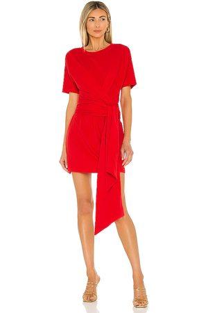 L'Academie Donna Vestiti - The Nani Mini Dress in - Red. Size L (also in XXS, XS, S, M, XL).