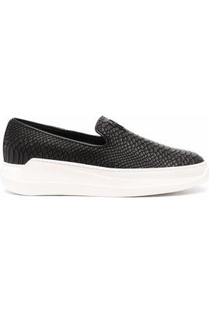 Giuseppe Zanotti Sneakers senza lacci con effetto coccodrillo