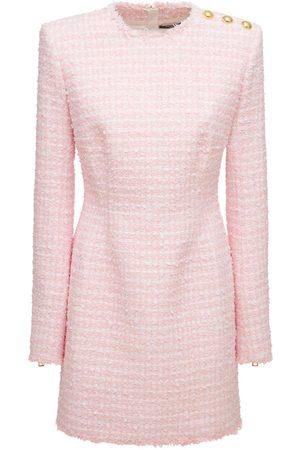 Balmain Vestito In Tweed Di Misto Cotone